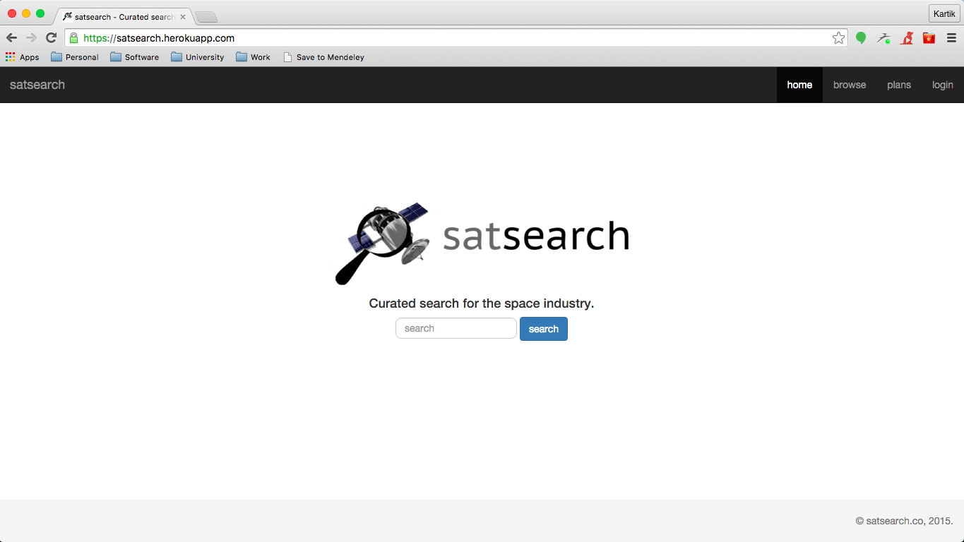 Satsearch v1 launched mid-2015