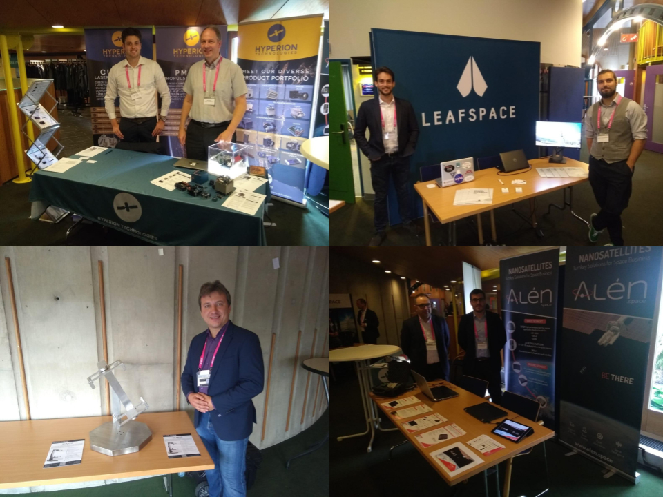 The exhibition floor at the 4th ESA CubeSat Industry Days
