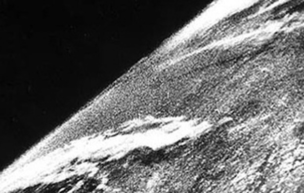 The first image of Earth from space