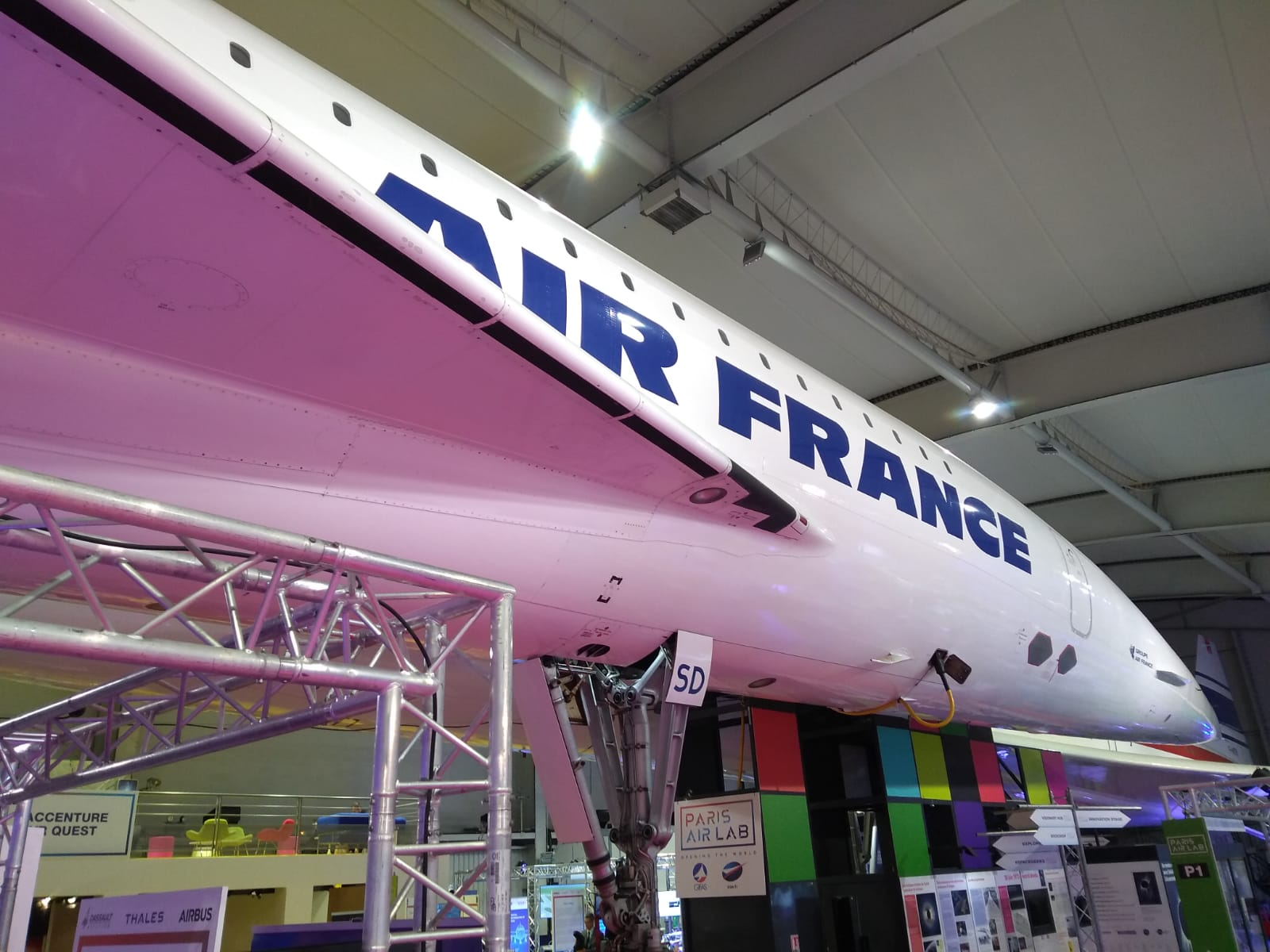 The concorde at the Paris Air Show
