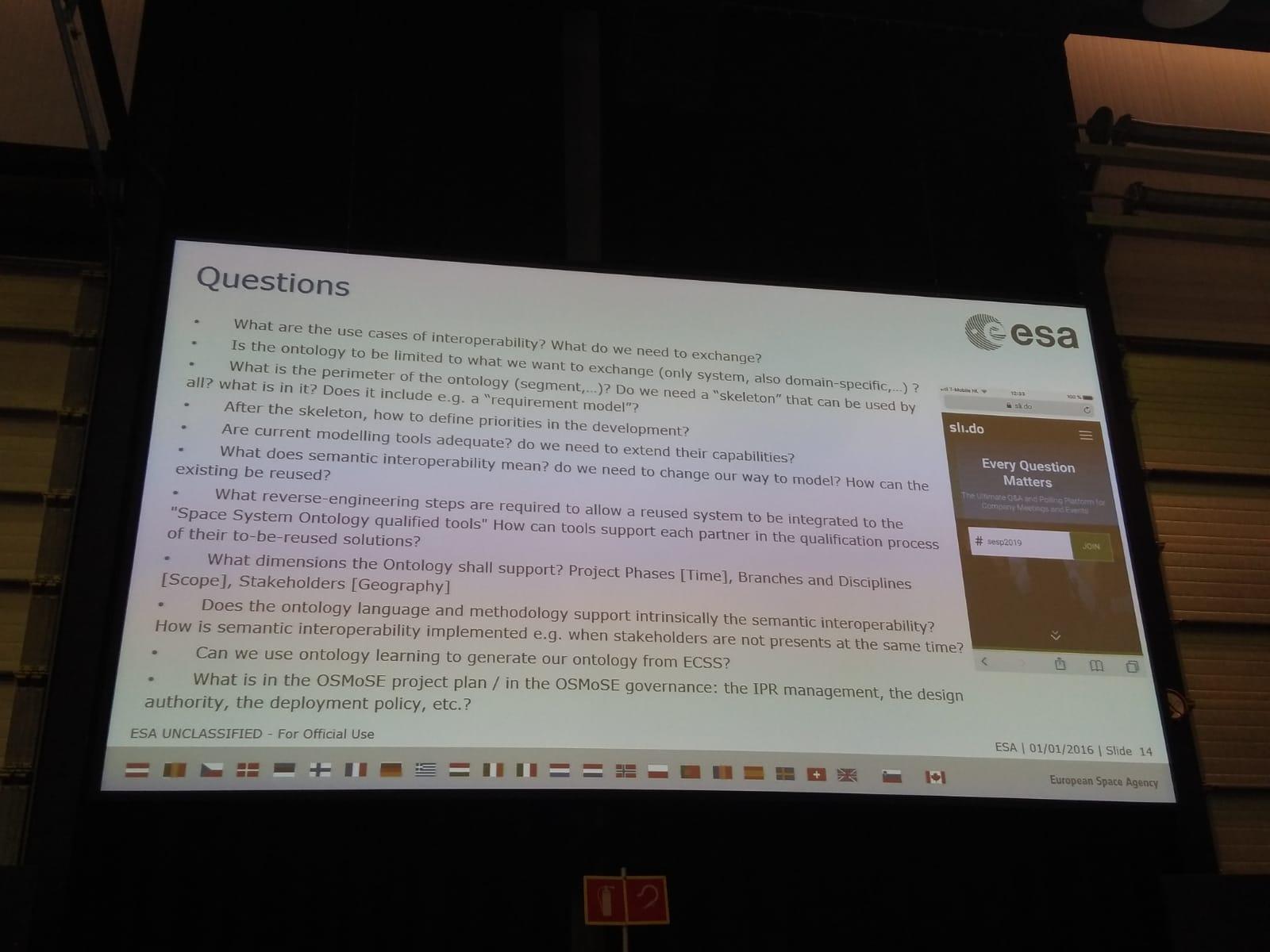 questions asked at ontology brainstorming workshop