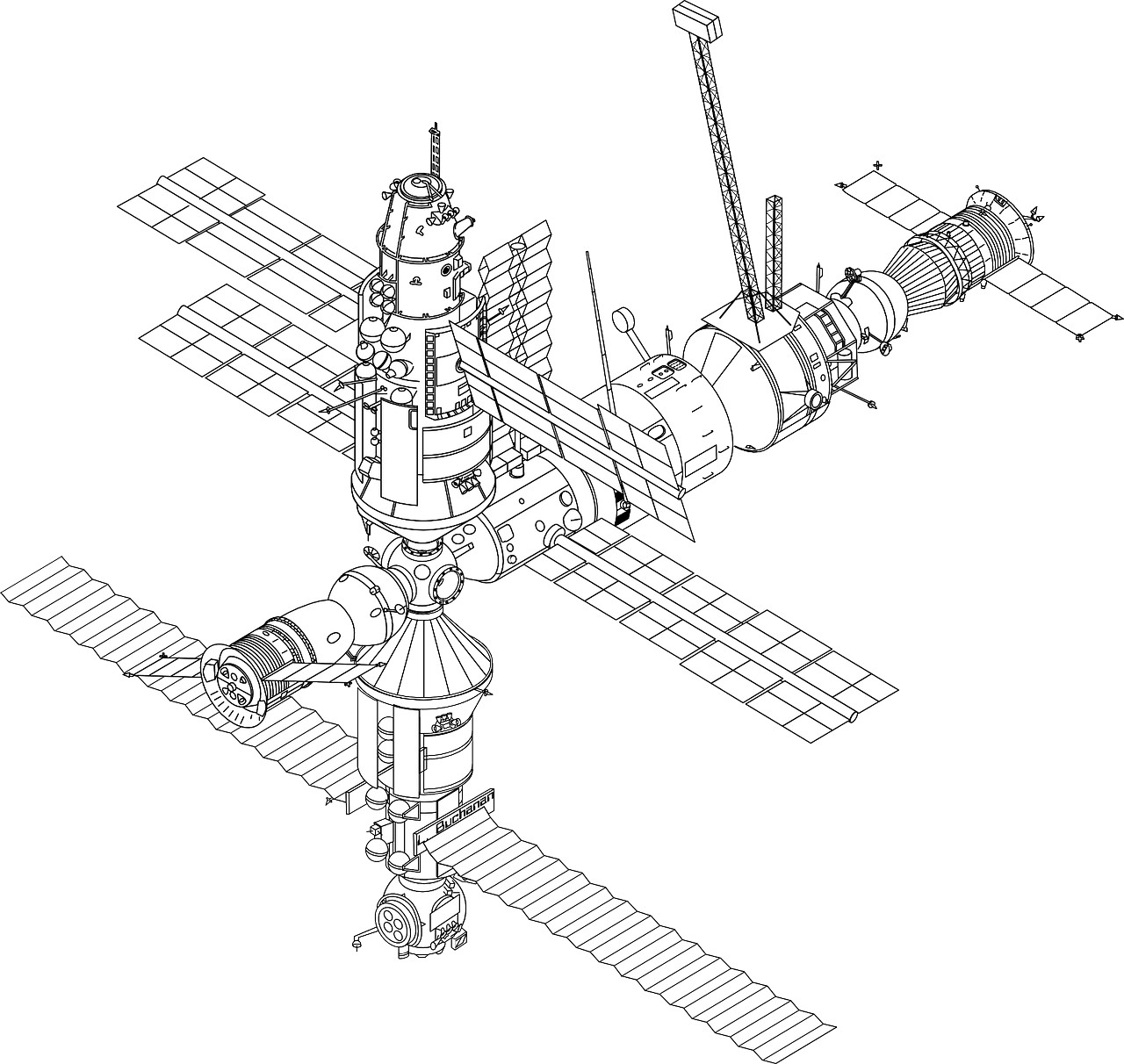 Model image of the ISS