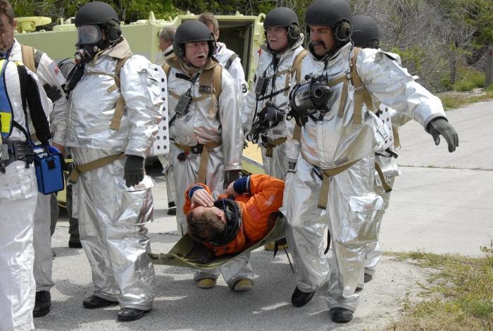 Astronaut rescue training