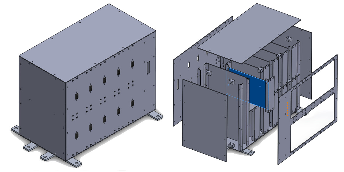 Schematic image of the SpaceShare chassis