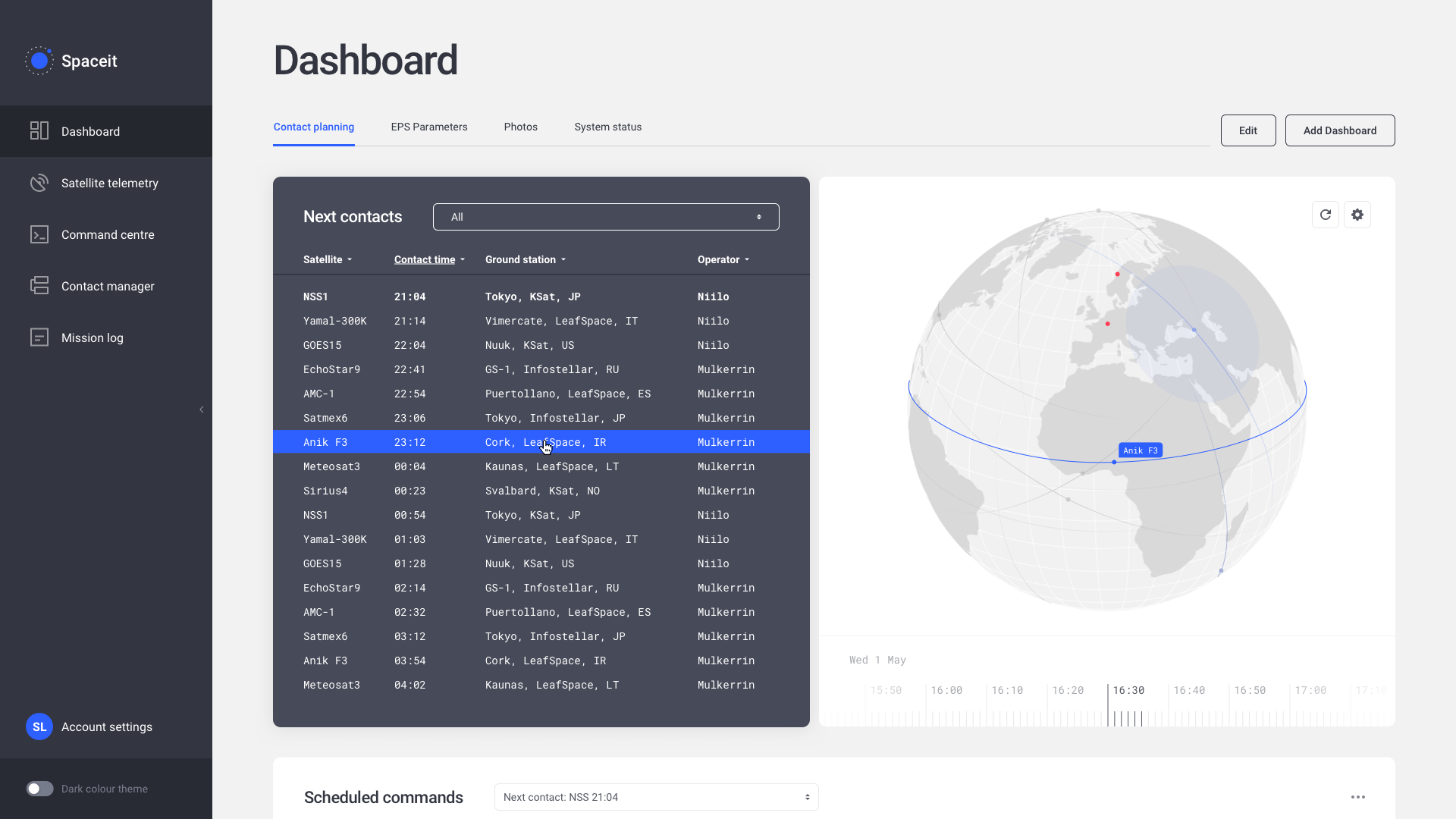 Spaceit mission control as a service on satsearch