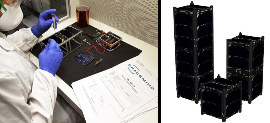 manufacture of satellite solar panels