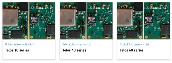 Telos OBC portfolio of Orbital Astronautics on satsearch