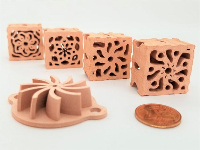 copper parts made via 3D printing